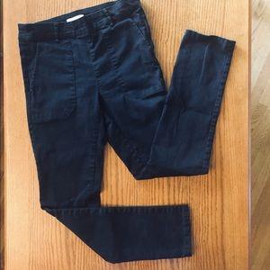 H&M black denim pants